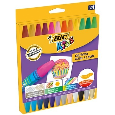 Bic Yağlı Pastel 24'Lü Karton Kutu Renkli
